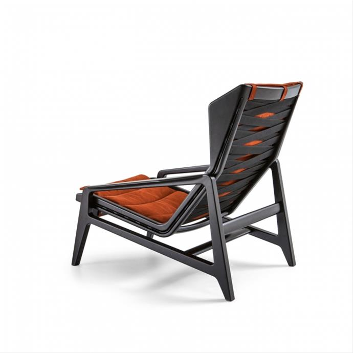 Gio Ponti armchair black wood