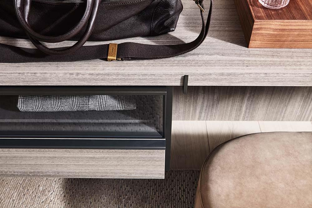 design walk-in closet Master Dressing Vincent van Duysen detail drawer