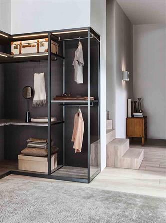 design walk-in closet Molteni furniture design bedroom Vincent van Duysen