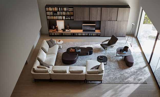 The Molteni Sofa Chelsea In A Wide Angled Composition